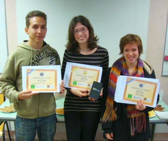 Les gagnants du concours AgroTIC - Smartphone 2011