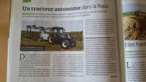 Tracteur viticole autonome